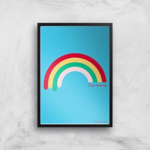 Pusheen Large Rainbow Giclee Art Print