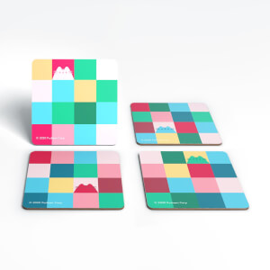 Pusheen Rainbow Square Coaster Set