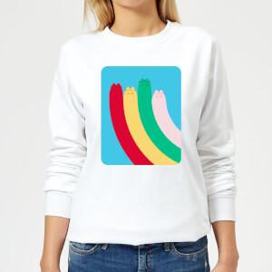 Pusheen Half Rainbow Women's Sweatshirt - White