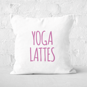 Yoga Lattes Square Cushion