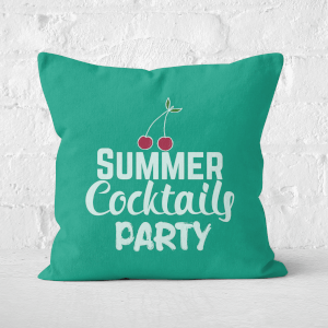 Summer Cocktails Party Square Cushion
