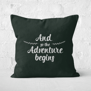 And The Adventure Begins Square Cushion