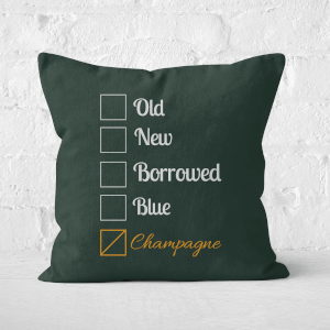 Champagne Tick Box Square Cushion