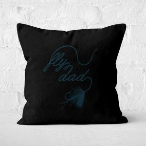 Fly Dad Square Cushion