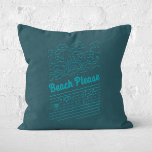 Beach Please Square Cushion