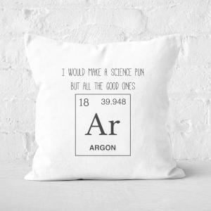 Periodic Pun Square Cushion