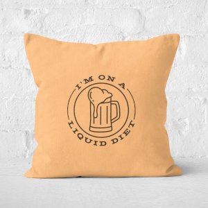 Liquid Diet Beer Square Cushion