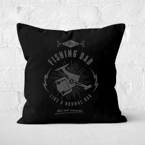 Fishing Dad Square Cushion