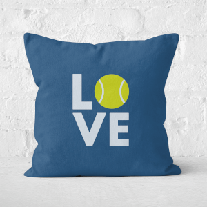Love Tennis Square Cushion