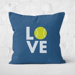 Love Tennis Square Cushion