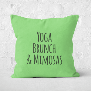 Yoga Brunch And Mimosas Square Cushion