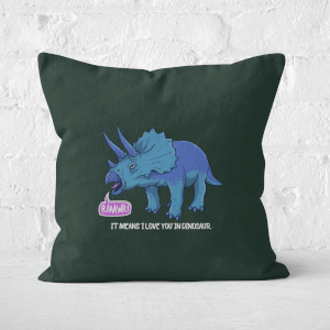 Rawr It Means I Love You In Dinosaur Square Cushion