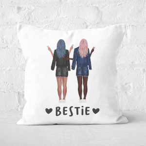 Pressed Flowers Besties Square Cushion