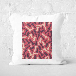 Chess Piece Pattern Square Cushion