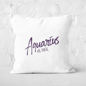 Pressed Flowers Aquarius As Fuck Square Cushion