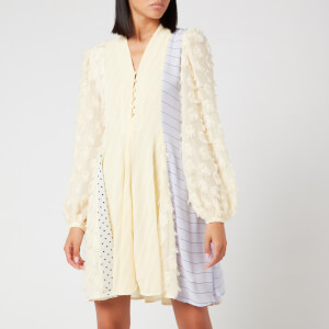 Stine Goya Women's Vico Mix Print Dress - Daffodil