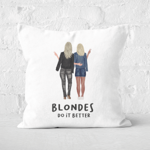 Pressed Flowers Blondes Do It Better Square Cushion