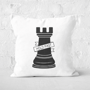 Rook Chess Piece Hold Fast Square Cushion