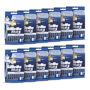 Gillette Blue3 Disposable Razors (96 Pack - 12 Month)