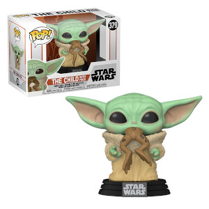 Star Wars The Mandalorian The Child (Baby Yoda) with Frog Pop! Vinyl Figure