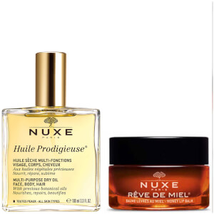 NUXE Huile Prodigieuse Oil and Lip Balm Duo (Worth £40.00)