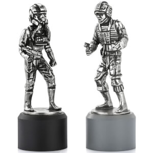 Royal Selangor Star Wars Chesspiece Rebel Pilot and Imperial Pilot (Rook)