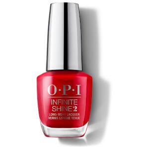 OPI Infinite Shine Big Apple Red Nail Varnish 15ml