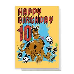 Scooby Doo 10th Birthday Greetings Card