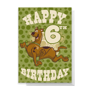 Scooby Doo 6th Birthday Greetings Card