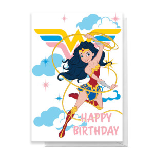 Wonder Woman Happy Birthday Greetings Card
