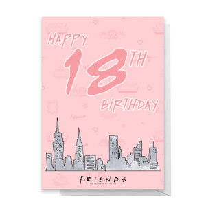 Friends Birthday 18th Greetings Card