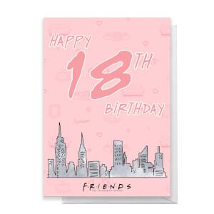 Friends Birthday 18th Greetings Card
