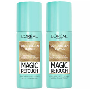 L'Oréal Paris Magic Retouch Light Golden Blonde Root Concealer Spray Duo Pack