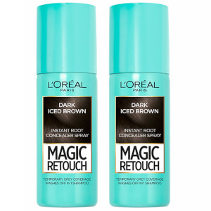 L'Oréal Paris Magic Retouch Dark Iced Brown Root Concealer Spray Duo Pack
