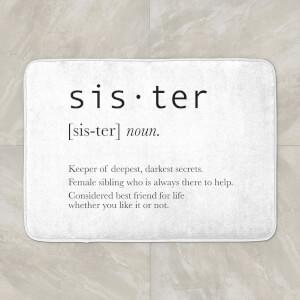 Sister Definition Bath Mat