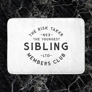 The Youngest Sibling The Risk Taker Bath Mat