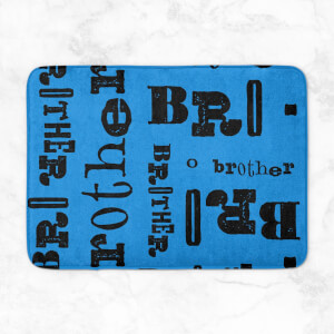 Vintage Brother Pattern Bath Mat