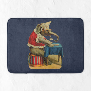 Clown Elephant Bath Mat