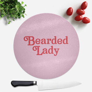 Bearded Lady Round Chopping Board