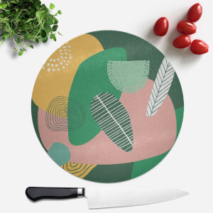 Earth Garden Round Chopping Board