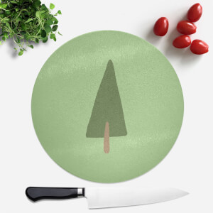 Pine Tree Round Chopping Board