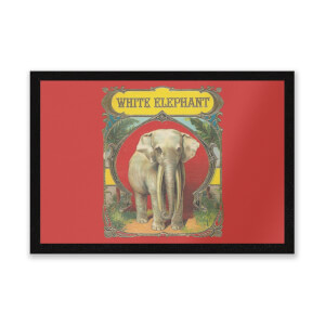 White Elephant Entrance Mat