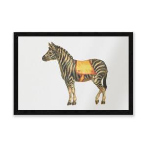 Circus Zebra Entrance Mat