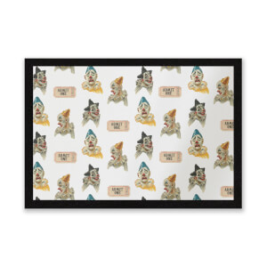 Circus Clown Pattern Entrance Mat
