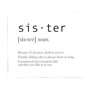 Sister Definition Fleece Blanket