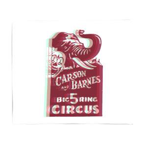 Carson And Barnes Big Five Ring Circus Fleece Blanket