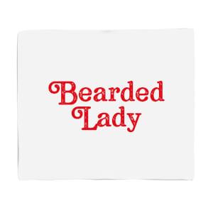 Bearded Lady Fleece Blanket