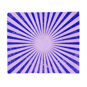 Circus Beams Purple Fleece Blanket