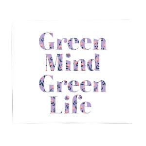 Green Mind Green Life Fleece Blanket