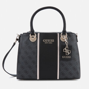 Guess Women's Cathleen 3 Compartment Satchel - Coal